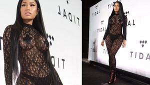 Nicki Minaj, Tidal'ın gecesinde giydiği kıyafetle olay oldu