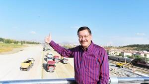 Ankarada 1110 kilometre rekor yeni yol açıldı