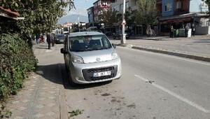 Dur ihtarını duymayan sürücü polisi alarma geçirdi