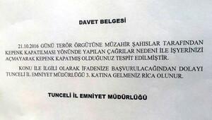Tuncelide kepenk kapatma eylemi sonrası 12 gözaltı