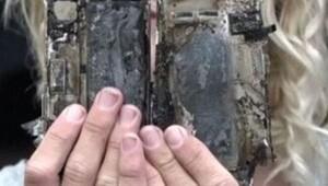 Bu kez iPhone 7 patladı, araba göz göre göre yandı