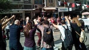 Madde 80e İzmirde horonlu protesto