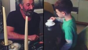Cem Yılmaz ve oğlu sosyal medyayı salladı