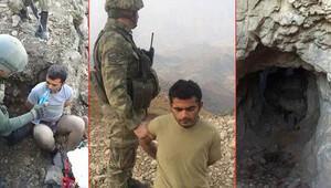 Yaralı PKKlı böyle yakalandı