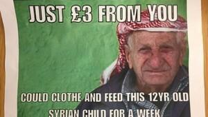 İngiliz parlamentosunda sığınmacılarla alay eden poster