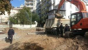 Arkeolojik parka sosyal tesis yapım durduruldu