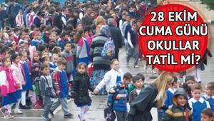 Yarın okullar tatil mi Binlerce öğrenci merak ediyor..