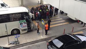 Dev havalimanında hanutçu kavgası
