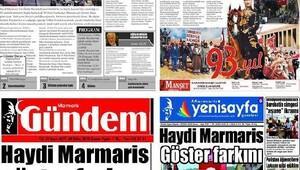 Marmaristeki gazetelerden 'Cumhuriyet birliği