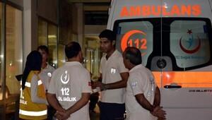 112 personeli yardım etti, saldırıya uğradı