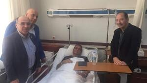 Edirne Belediye Başkanı Gürkan, saldırıya uğrayan Tezcan'ı ziyaret etti