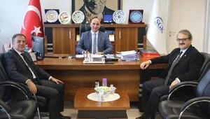 Başkan Ekiciden SGK İl Müdürü Hasgüle hayırlı olsun ziyareti