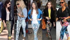 Bu sezonun trendi desenli pantolonlar