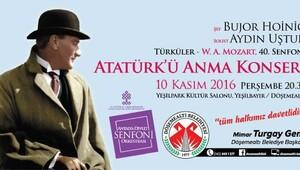 Döşemealtı Belediyesinden 10 Kasım konseri