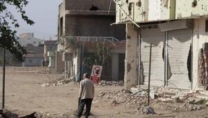 Nusaybinde tel örgü geri çekildi, çatışma izleri ortaya çıktı