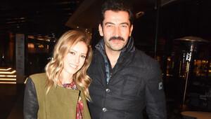 Kenan İmirzalıoğlu ve eşi Sinem Kobalın gece gezmesi