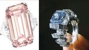 Pembe ve mavi elmaslara milyon dolar yağdı