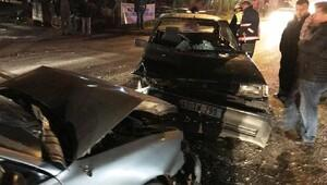 Hamile kadın, kazada yaralandı