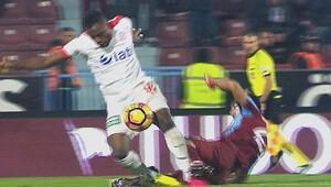 Trabzonsporu çıldırtan penaltı kararı