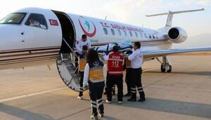 Ambulans uçakla Ayvalıktan Samsuna sevk edildi