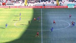 Sivas-Eskişehir maçında ilginç görüntü