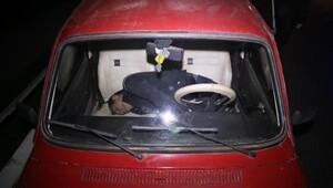 Kalp krizi geçiren sürücü aracında ölü bulundu