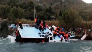 Batan mülteci teknesinde can pazarı yaşandı