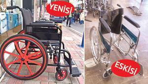 Tekerlekli sandalyeleri kurtarıyor