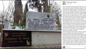 Kalbine yenilen Muhammed'in mezar taşına Hay'canların abisi yazıldı
