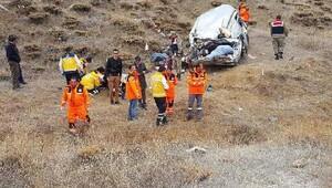 İmranlıda trafik kazası: 1 ölü, 6 yaralı