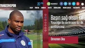 Trabzonspordan Kweukeye başsağlığı mesajı