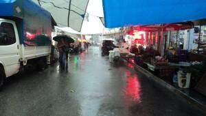 Fırtına ve yağmur Tirede hayatı zorlaştırdı