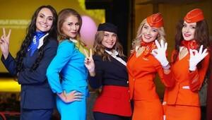 Rusya en güzel hosteslerini seçti