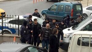 Çerkezköyde PKK operasyonunda gözaltına alınan 9 kişi adliyede