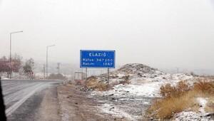Tunceli, Elazığ ve Bingöle kar yağmaya başladı