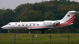 O uçak Cumhurbaşkanı için İzmirden gitmiş