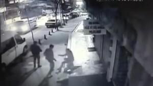 Pendikte sokak ortasındaki dehşet kamerada