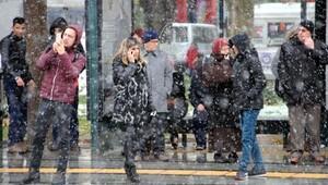 Tokatta kar yağışı