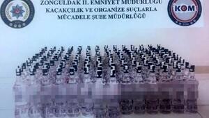 Zonguldakta 156 şişe kaçak rakı ele geçirildi