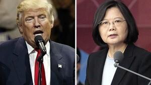 Trump, Tayvan lideri ile telefonda görüştü