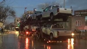 Özgür Suriye Ordusu'na arazi araçları gönderildi
