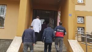 Rize'de öğrenci yurt binasında yangın denetimi