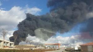 Dilovasında fabrikanın deposu yandı (Yeniden) (2)