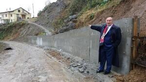 Rize'de yol kesen duvarın sırrı çözüldü