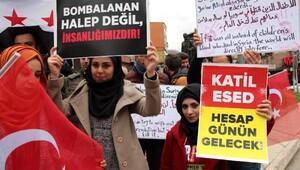 Zonguldakta Halep protestosu