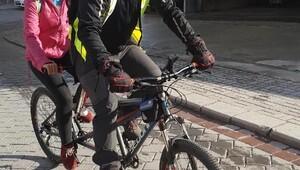 Görme engellilerin bisiklet keyfi