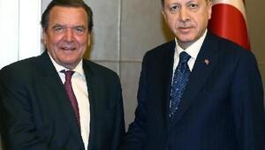 Cumhurbaşkanı Erdoğan, Schröderi kabul etti//Fotoğrafla