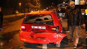 Zonguldakta 11 aracın hasar gördüğü 2 kazada: 3 yaralı