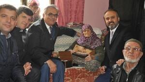 110 yaşındaki Şükriye nineye protokol ziyareti