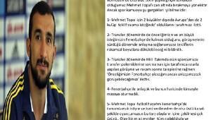 Mehmet Topalın menajerinden açıklama
